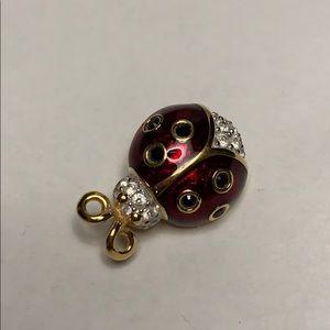 Swarovski Petite Ladybug Pin